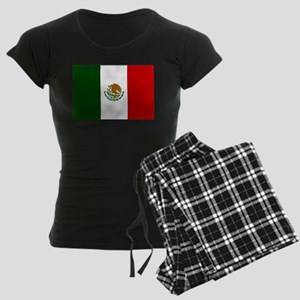 Mexico Flag Women's Dark Pajamas