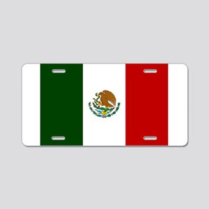 Mexico Flag Aluminum License Plate