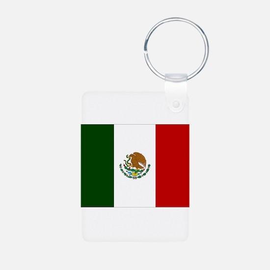 Mexico Flag Aluminum Photo Keychain
