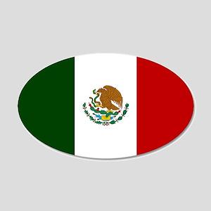 Mexico Flag 22x14 Oval Wall Peel