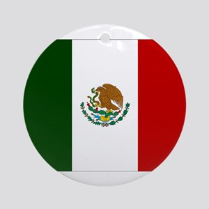 Mexico Flag Ornament (Round)
