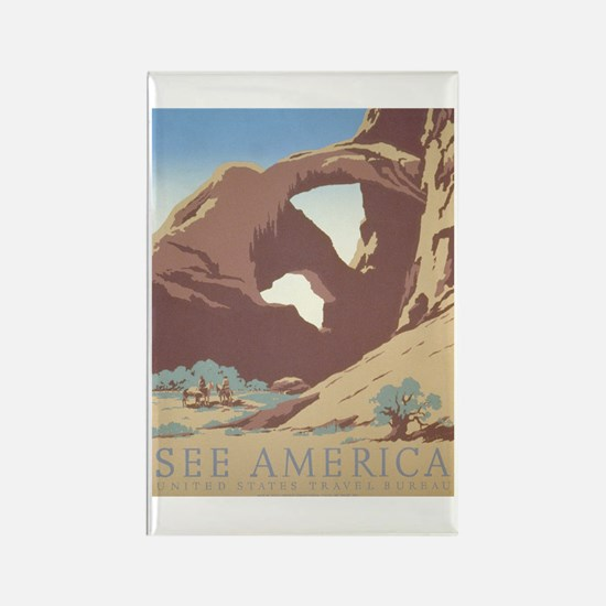 See America WPA Poster Rectangle Magnet