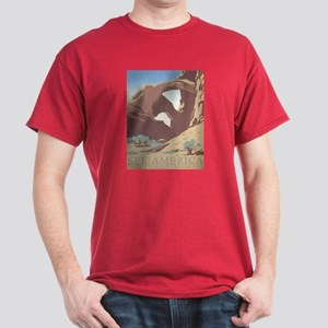 See America WPA Poster Dark T-Shirt