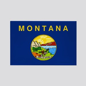 Montana Flag Rectangle Magnet