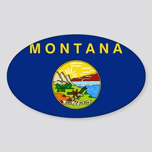 Montana Flag Sticker (Oval)