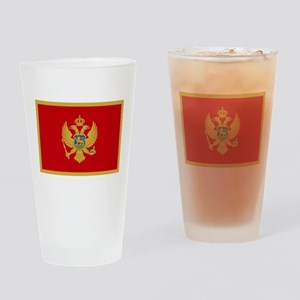 Montenegro Flag Drinking Glass