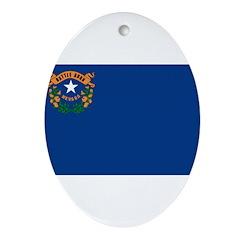 Nevada Flag Ornament (Oval)