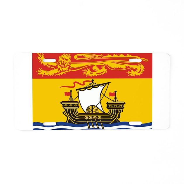 New Brunswick Flag Aluminum License Plate By Flagsfromtheworld
