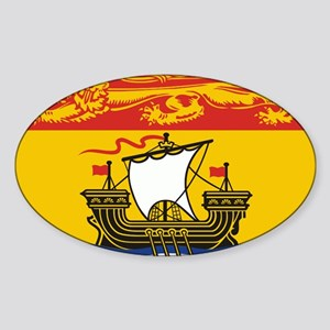New Brunswick Flag Sticker (Oval)