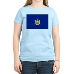 New York Flag Women's Light T-Shirt