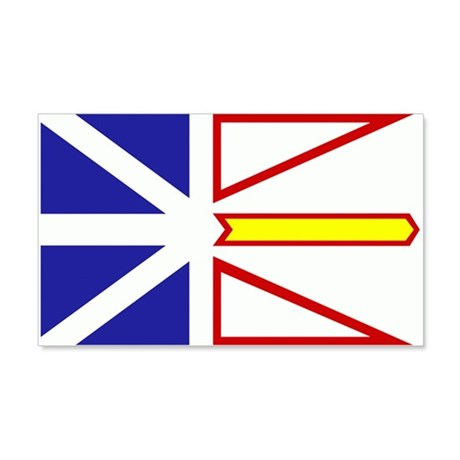 Newfoundland Flag 22x14 Wall Peel