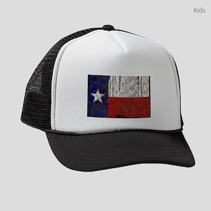 be7b2059ac571 Retro Flag of Texas Kids Trucker hat