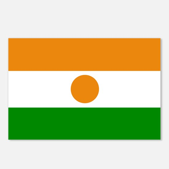 Niger Flag Postcards (Package of 8)