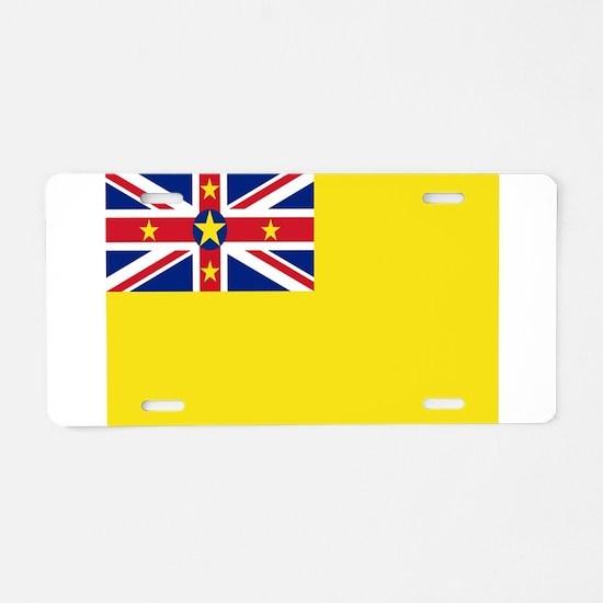 Niue Flag Aluminum License Plate
