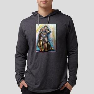 Wolf! Wldlife art! Mens Hooded Shirt