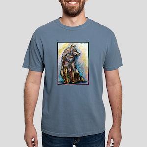 Wolf! Wldlife art! Mens Comfort Colors Shirt