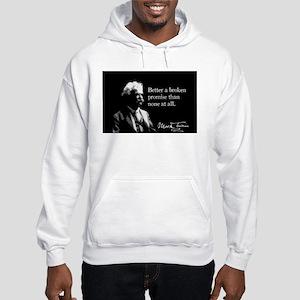 Mark Twain, Broken Promises, Hooded Sweatshirt