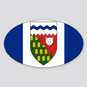 Northwest Territories Flag Sticker (Oval)