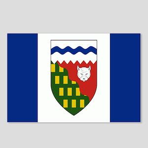 Northwest Territories Flag Postcards (Package of 8