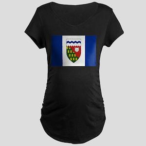 Northwest Territories Flag Maternity Dark T-Shirt