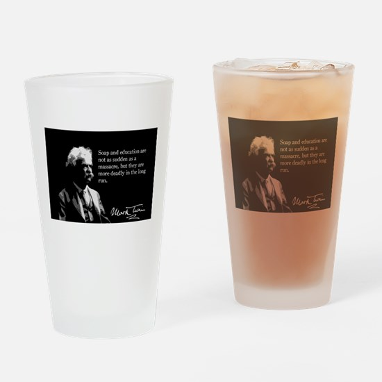 Mark Twain, Soap and Education, Drinking Glass