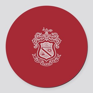 Phi Kappa Psi Fraternity Crest in Round Car Magnet