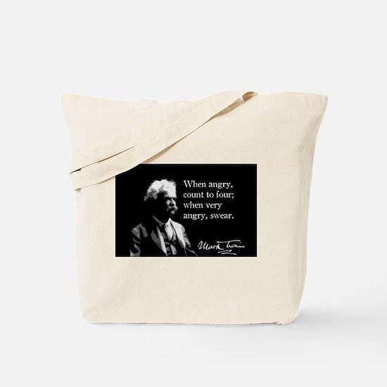 Mark Twain, Funny, Anger, Tote Bag