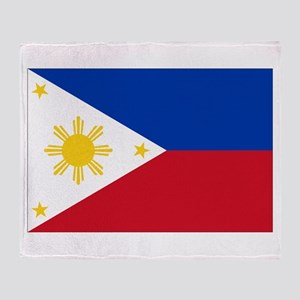 Philippines Flag Throw Blanket