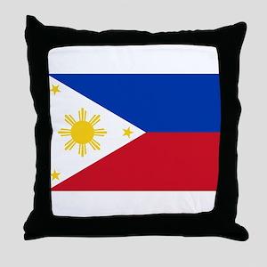 Philippines Flag Throw Pillow