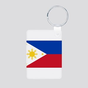 Philippines Flag Aluminum Photo Keychain