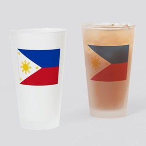 Philippines Flag Drinking Glass
