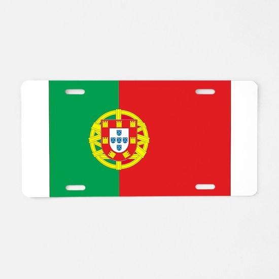 Portugal Flag Aluminum License Plate