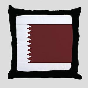 Qatar Flag Throw Pillow