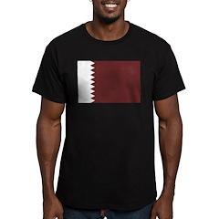 Qatar Flag Men's Fitted T-Shirt (dark)