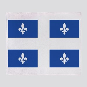 Quebec Flag Throw Blanket