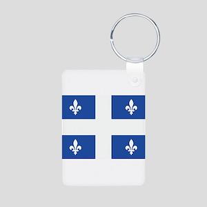 Quebec Flag Aluminum Photo Keychain