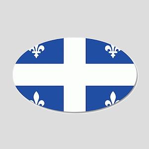 Quebec Flag 22x14 Oval Wall Peel