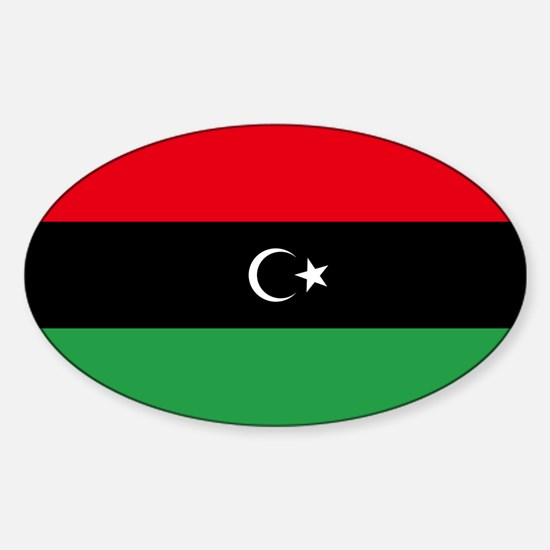 Republic of Libya Flag Sticker (Oval)