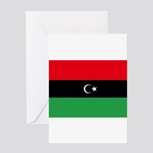 Republic of Libya Flag Greeting Card
