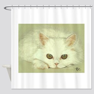 """SNOWFLAKE"" / KITTEN Shower Curtain"
