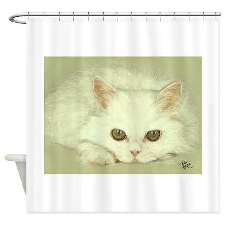 SNOWFLAKE KITTEN Shower Curtain By VLeeORIGINALS