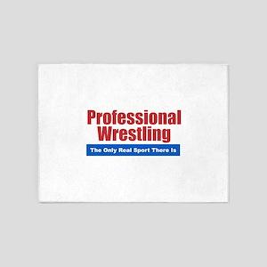 Professional Wrestling 5'x7'Area Rug