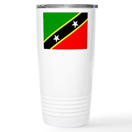 Saint Kitts Nevis Flag Stainless Steel Travel Mug