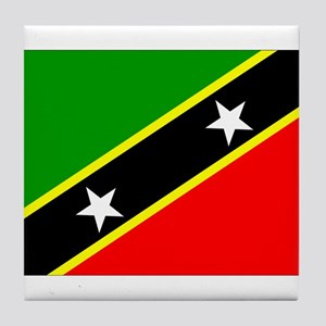 Saint Kitts Nevis Flag Tile Coaster