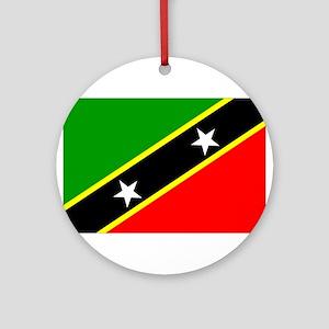 Saint Kitts Nevis Flag Ornament (Round)
