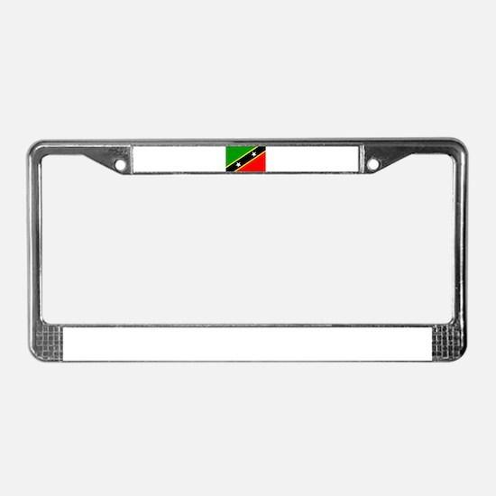 Saint Kitts Nevis Flag License Plate Frame
