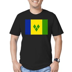 Saint Vincent Flag Men's Fitted T-Shirt (dark)