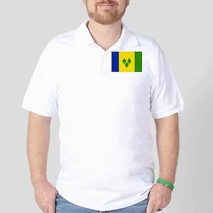 Saint Vincent Flag Golf Shirt