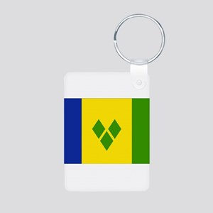 Saint Vincent Flag Aluminum Photo Keychain