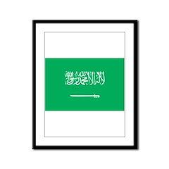Saudi Arabia Flag Framed Panel Print